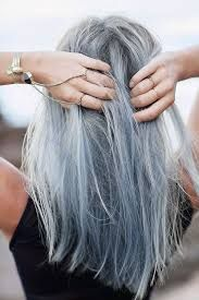 Image result for ashy grey blue hair