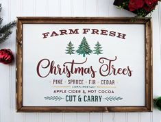 While some enjoy the ease of a classic fake tree, Others LOVE the smell of a fresh cut Christmas tree! This hand painted Christmas tree sign will look stunning next to your beautiful live (or non living! Regardless of where you stand, I h