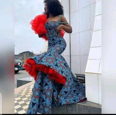 African Prom Dresses, Latest African Fashion Dresses, African Dresses For Women, African Attire, African Women, Traditional Wedding Attire, Traditional Fashion, African Print Wedding Dress, Nigerian Dress