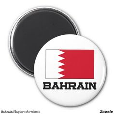 Bahrain Flag 2 Inch Round Magnet