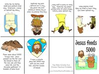 Jesus Feeds 5000 Free Bible Story Minibooks