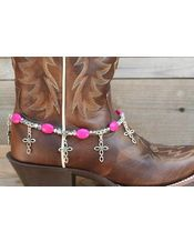 Boot Candy Boot Candy Pink Crystals, Pearls and Peace
