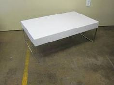 white and steel coffee table - Buscar con Google