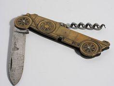 Ancien couteau Coursolle avec tire bouchon