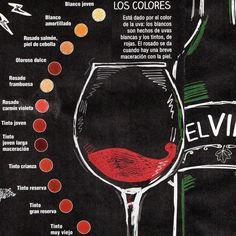 Variaciones en el color del vino. Salud!