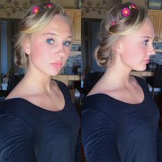 Updo | Blonde | Hair | Flowers