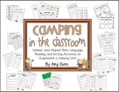 camping unit full of reading, writing, grammar, and math activities