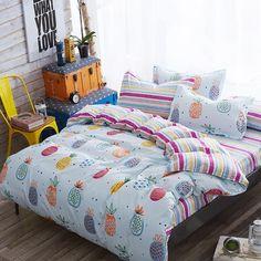 Bright Pineapple Bedding Set