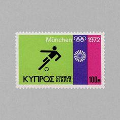 Olympic Games Munich (100m). Cyprus, 1972. Design: A. Tassos http://grafiktrafik.tumblr.com