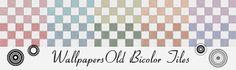 Morandi Sisters Microworld: Printable Wallpapers - Two-Color Tiles