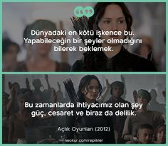 Açlık Oyunları: Alaycı Kuş (The Hunger Games: Mockingjay - Part Film Quotes, Book Quotes, Personality Quotes, Katniss And Peeta, Movie Lines, Mockingjay, Crazy People, Meaningful Quotes, Film Movie