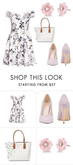 """Flowers"" by natka-lehnerova ❤ liked on Polyvore featuring Nine West, Marc Jacobs and Irene Neuwirth"