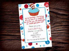 Dr Seuss Birthday Invitation by BlissfulBethDesigns on Etsy, $11.00