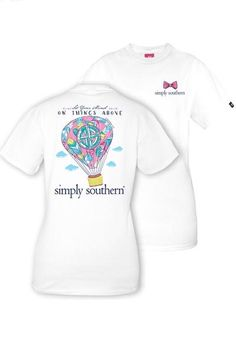 Simply Southern YOUTH Hot Air Balloon Tee - White