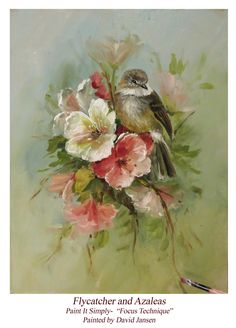 Jansen Art Online Store - P1114 Flycatcher and Azaleas- Download, $6.95 (http://www.jansenartstore.com/p1114-flycatcher-and-azaleas-download/)