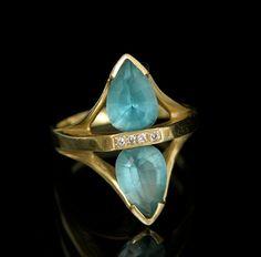 Another Aquamarine and Diamond Ring