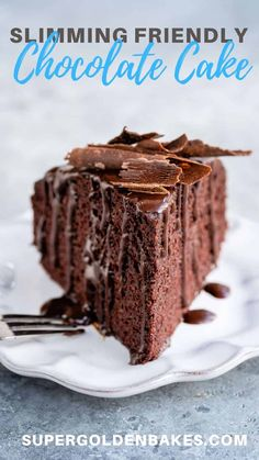 A healthier chocolate cake that's easy to make, delicious, gluten free and slimming friendly! Only 140 per slice and 5 Weight Watchers SmartPoints Slimming World Chocolate Cake, Slimming World Desserts, Low Fat Chocolate, Tasty Chocolate Cake, Healthy Chocolate, Flourless Cake, Flourless Chocolate, Healthy Dessert Recipes, Cake Recipes