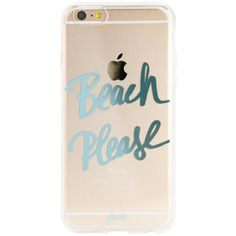 Beach Please iPhone 6 Plus (1,835 DOP) ❤ liked on Polyvore featuring accessories and tech accessories