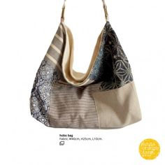 Dark Blue w/Grey /R #whiteorangefarm #mosseash #handmade #handmadebag #cotton #canvas #linen