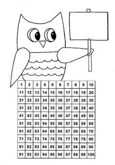 Tällä kertaa yhdistin nimilapun ja satataulukon. Tarkoitus on kopioida A5-kokoiseksi, värittää ja kiinnittää pulpetin kanteen. Väritetään l... Math Place Value, Place Values, Teaching Math, Maths, Math For Kids, 100th Day, Diagram, Classroom, Learning