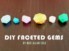 Diy Faceted Gems  •  Free tutorial with pictures on how to fold an origami gem in under 30 minutes