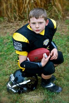 Football AllStar - Kyle James 6 yrs old Maggie D. Photography www.maggiedphotography.com