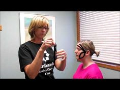 Kinesio taping for headaches, migraines, and TMJ pain - YouTube