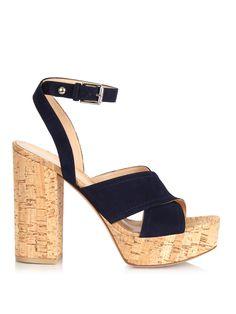 Suzie suede platform sandals by Gianvito Rossi   Shop now at #MATCHESFASHION.COM