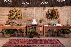 Mesa de doces para casamento tropical- Decoração Paula Fontoura - Foto Thiago Okimoto