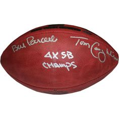 Bill Parcells Tom Coughlin Dual Signed Special Edition Gold Foil 4 SB Logo Football w 4X SB Champs insc