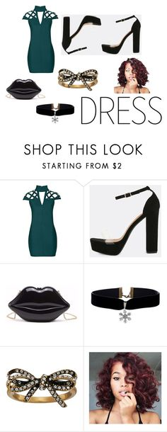 """""""choker Dress"""" by emma-387 ❤ liked on Polyvore featuring Rare London and Marc Jacobs"""