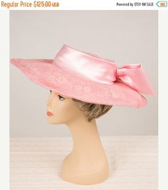 Pink Kentucky Derby Hat Hand Made  Formal Church by HelensHatbox
