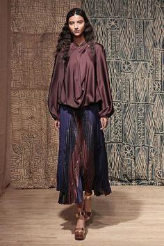 Olivia Palermo's #NYFW Pin Picks: Caftans and draped gypsy glam for Tia Cibani SS '15.