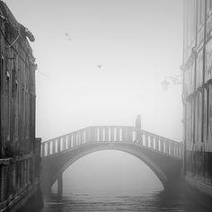 Romantic Venice in the fog