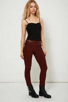 High Waisted Trousers With Buttons for £8.99. Buy it now by visiting our shop.
