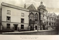 King Edward VI Grammar School and Green Close House, 1905