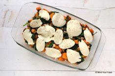 zoete aardappelschotel met spinazie en kip Lucky Food, Clean Eating, Healthy Eating, Healthy Life, Healthy Food, Feel Good Food, 30 Minute Meals, Evening Meals, Food To Make