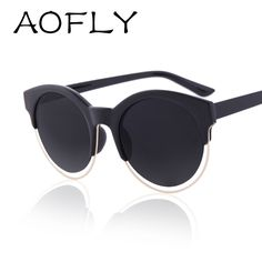 SIDERAL AOFLY Moda Mulheres Óculos De Sol Da Marca de Design Retro Estrela  Estilo olho de 9825454b43