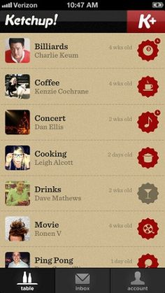A new type of Ketchup. Ketchup #app helps to manage your social life.