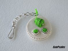 Purse Charm - Green Eggs and Ham - Keychain - Geekery - Christmas Gift - Funny Stocking Stuffer - Humorous - Dr. Suess - Backpack Charm. $9.00, via Etsy.