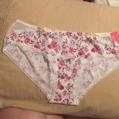 NWT Xhilaration brand panties Brand new with tags Xhilaration brand panties in floral print with lace accents. Hipster cut. Xhilaration Intimates & Sleepwear Panties