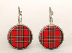 SCOTTISH PLAID Earrings, 0200ERS from EgginEgg by DaWanda.com