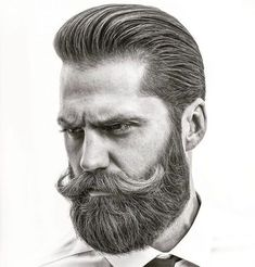 An awesome collection of the best beard styles for short beards, medium beards, long beards and everything in between. Showcasing the best beards of the best beard styles. Get ideas to grow your beard for longer or shorter styles. Long Beard Styles, Beard Styles For Men, Hair And Beard Styles, Facial Hair Styles, Beard No Mustache, Handlebar Mustache, Beard And Mustache Styles, Popular Mens Haircuts