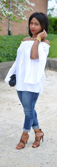 Spring Outfit Idea, Spring, White Top