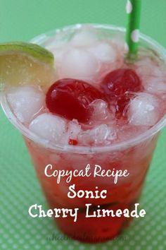 Sonic Cherry Limeade {Copycat Recipe}