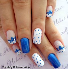 cute nails with bows