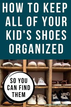 How to keep your kid's shoes organized so they can find them. If you are looking for new ways to organize your family's shoes, you're going to want to see this! Practical tips and strategies to help your kids keep track of their shoes so they can put them on and get out the door on time. The best shoe storage and organization ideas for kids (and families) Kids Shoe Organization, Kids Shoe Storage, Shoe Organizer, Homemaking, Declutter, Good Things, Shoes, Zapatos, Home Economics