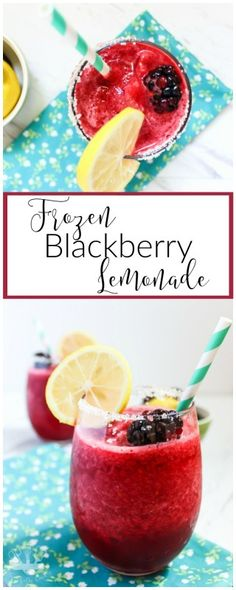 Frozen Blackberry Lemonade