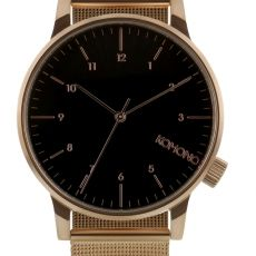 Montre Winston Royale - Or rose et noir Mesh Armband, Kapten & Son, Black Hills Gold Jewelry, Pearl Rose, Rose Gold Watches, Stainless Steel Mesh, Ring Verlobung, Black Mesh, Black Silver