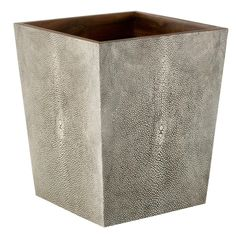 Faux Shagreen Wastepaper Bin - Taupe #OKA #Furniture #Design